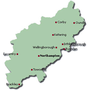 Northants map